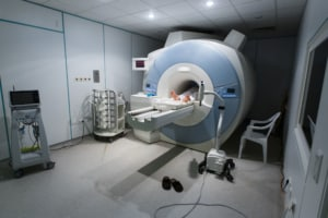 Patient Getting MRI Scan For Cauda Equina Syndrome