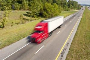 Speeding Red Truck Accident