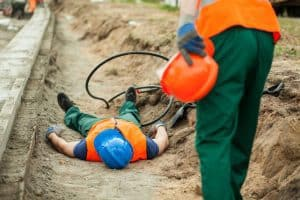 Picture of a man electrocuted at a construction accident in Michigan