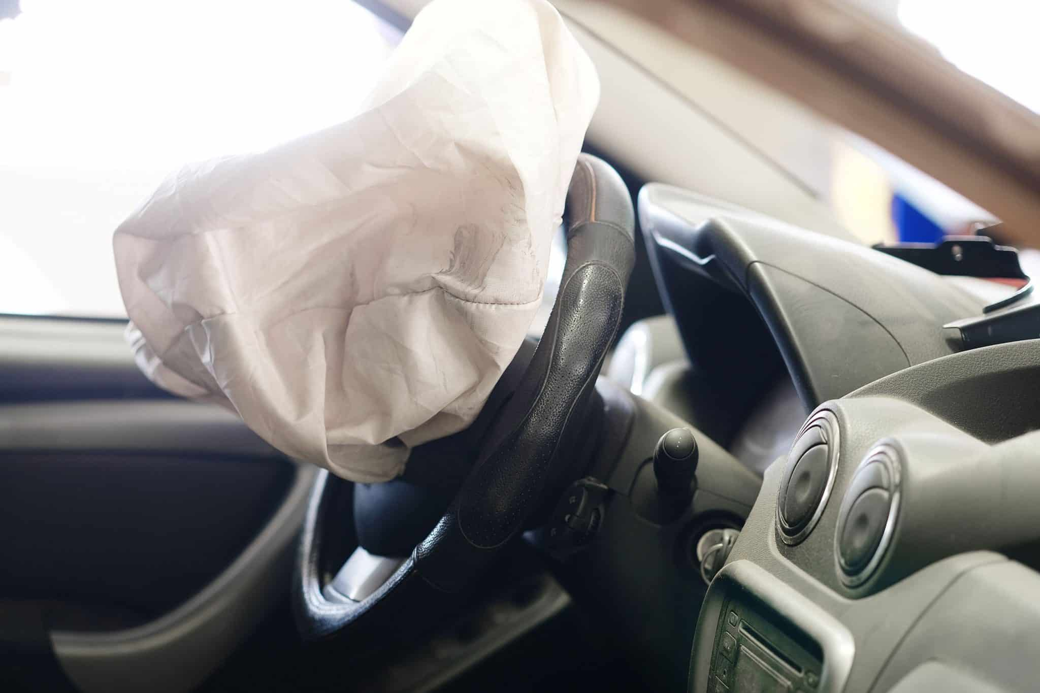 Picture of airbag after a vehicle accident
